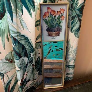 Rare Eglomisé Designs Tulips Mirror Ayer, MA